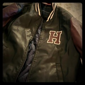 Tommy Hilfiger leather jacket xl,in excellent cond